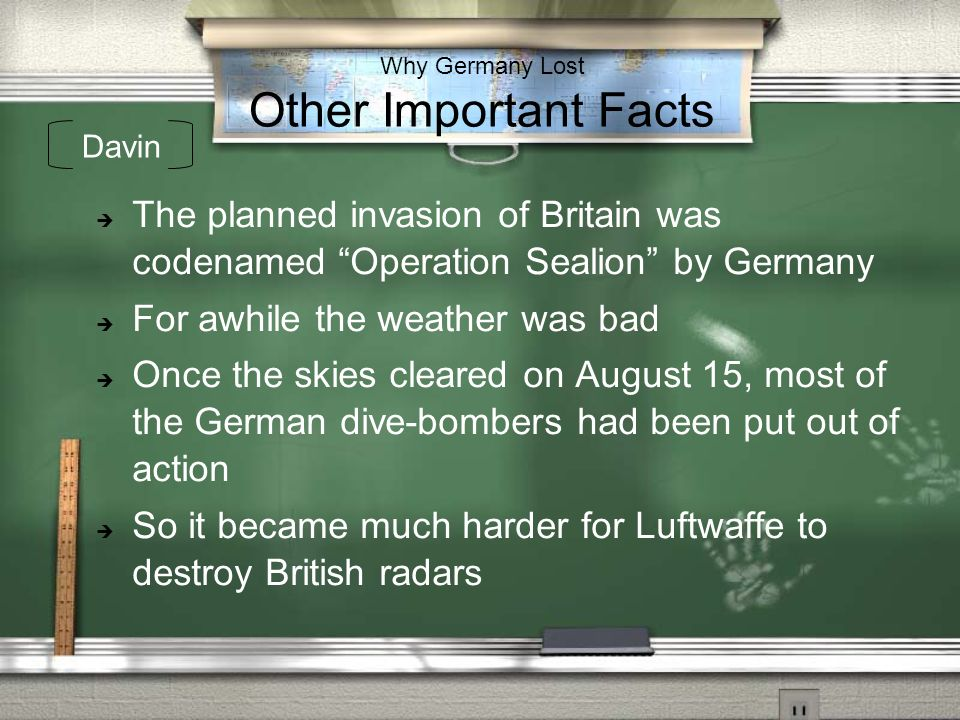 Why Germany Lost Other Important Facts
