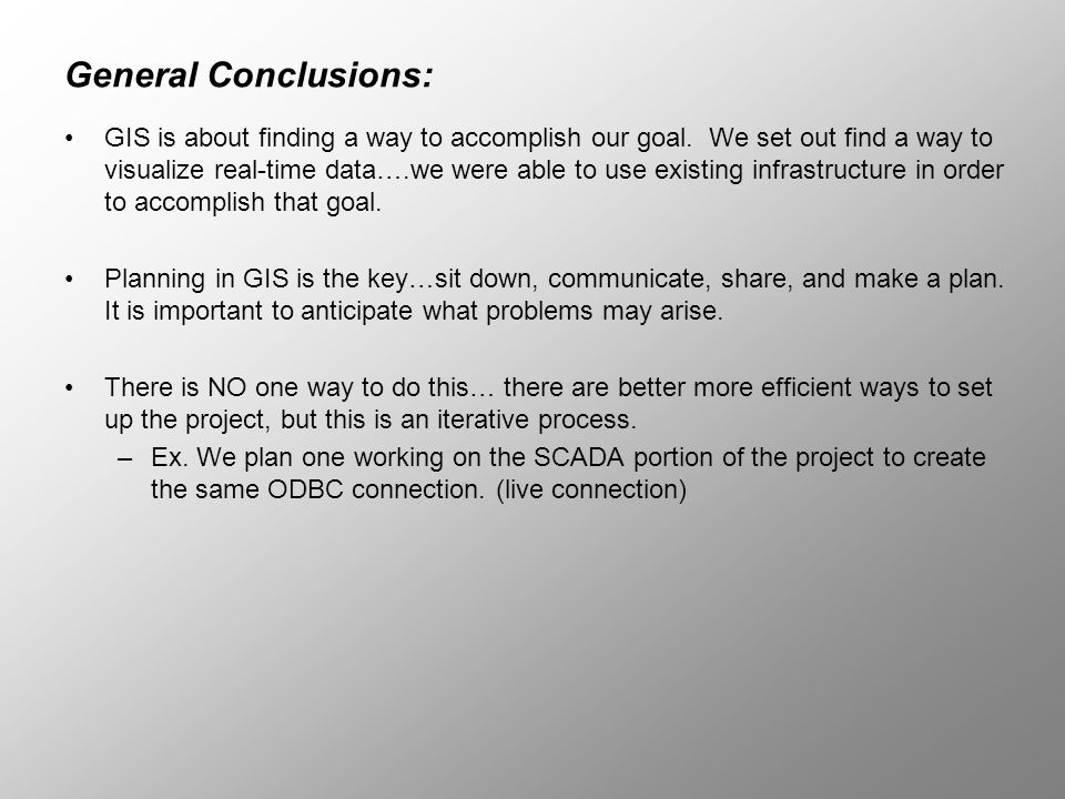 General Conclusions: