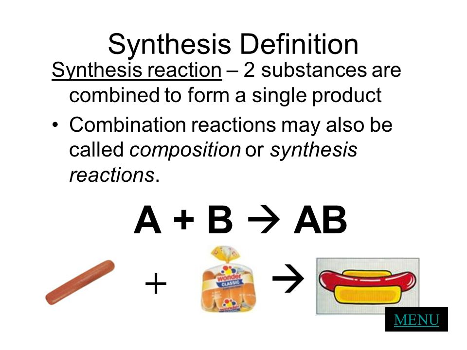 A + B  AB  + Synthesis Definition