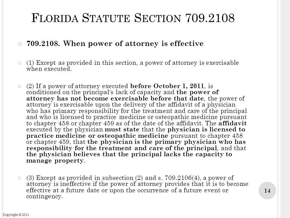 Florida Statute Section 709.2108