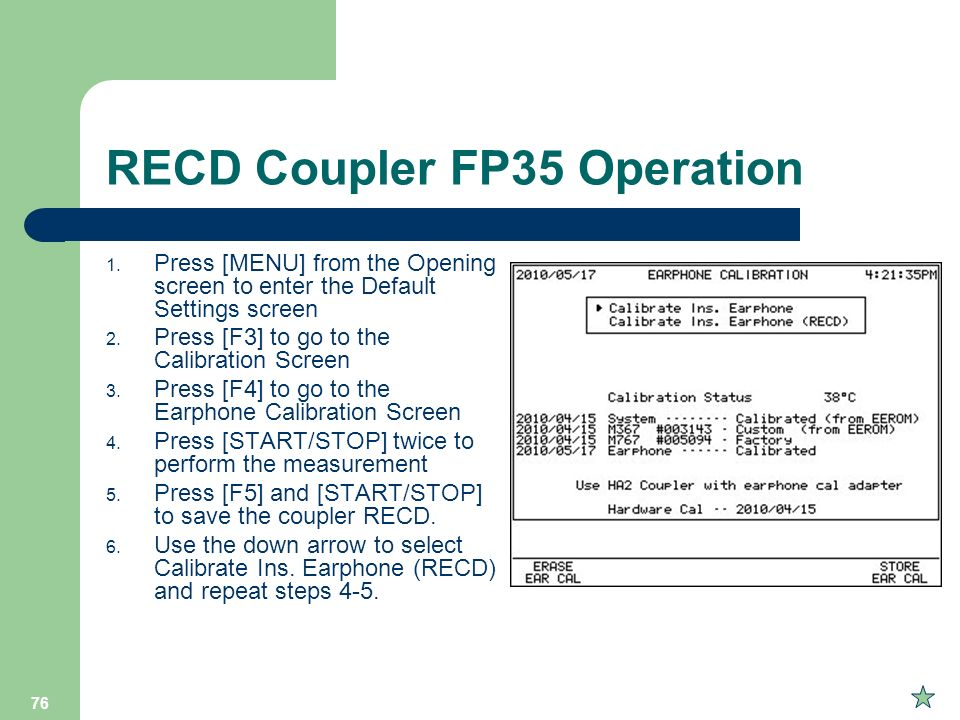RECD Coupler FP35 Operation