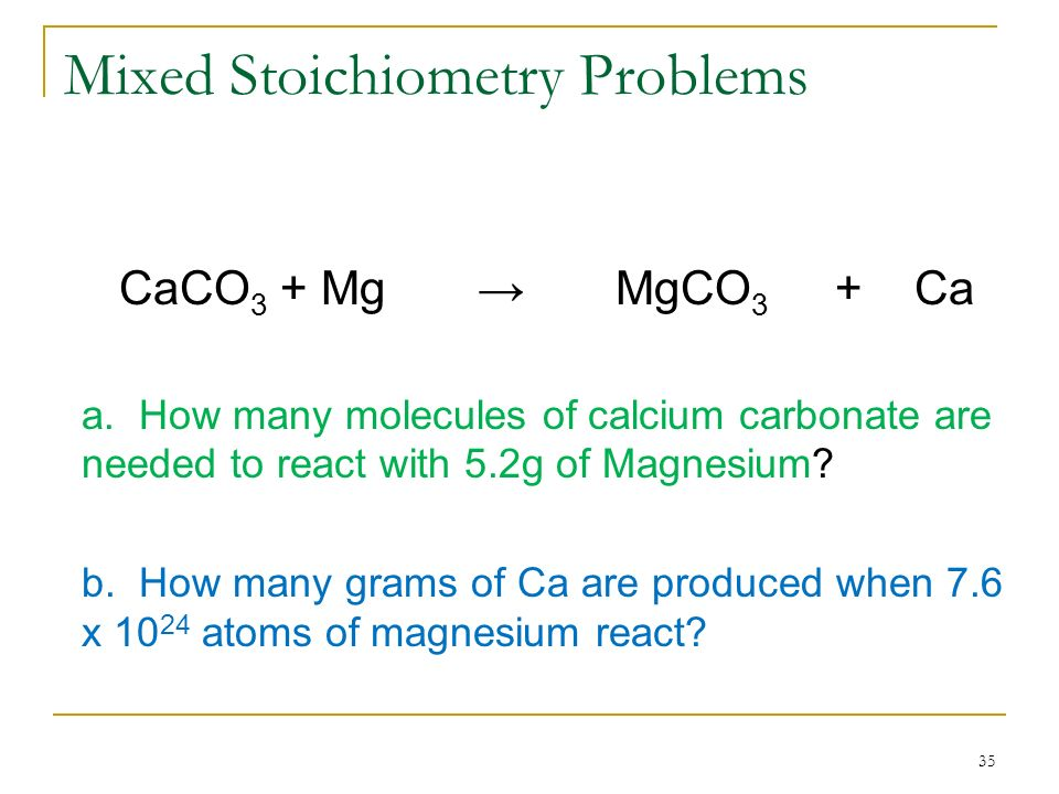 Mixed Stoichiometry Problems