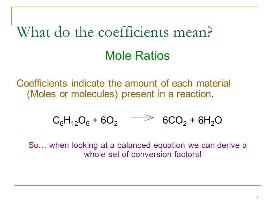What do the coefficients mean