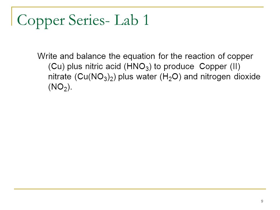 Copper Series- Lab 1
