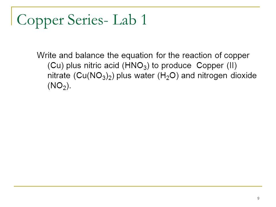 Copper Series- Lab 1