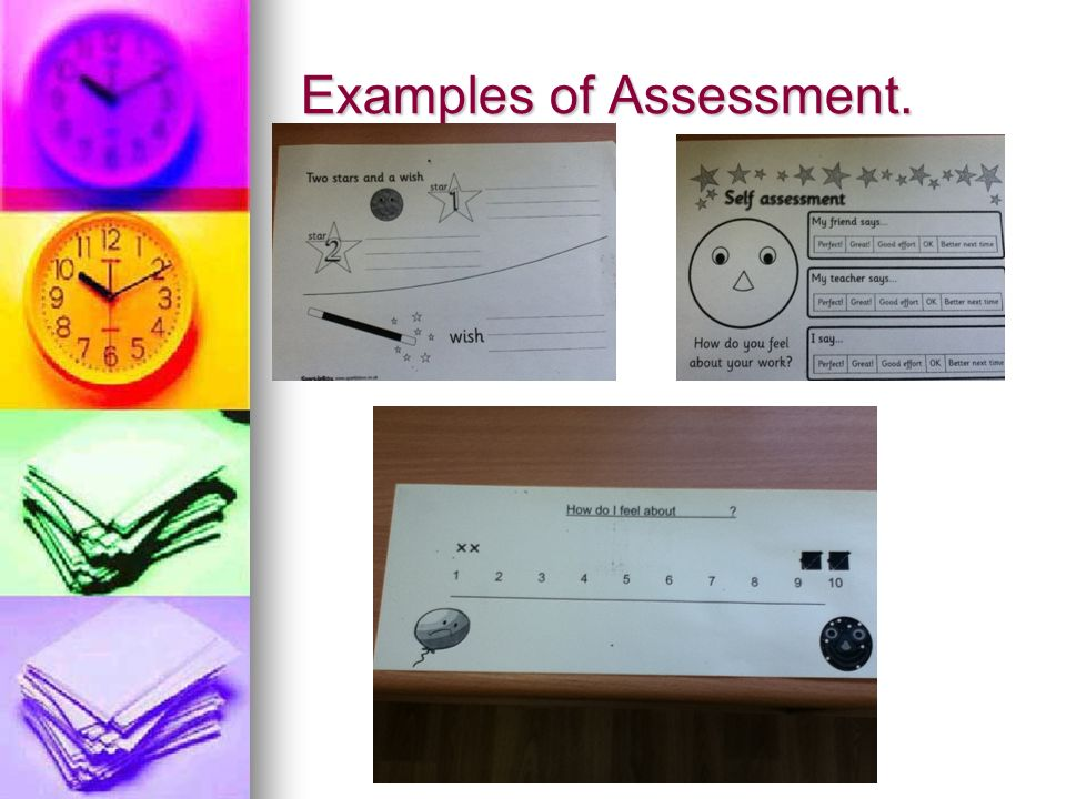Examples of Assessment.