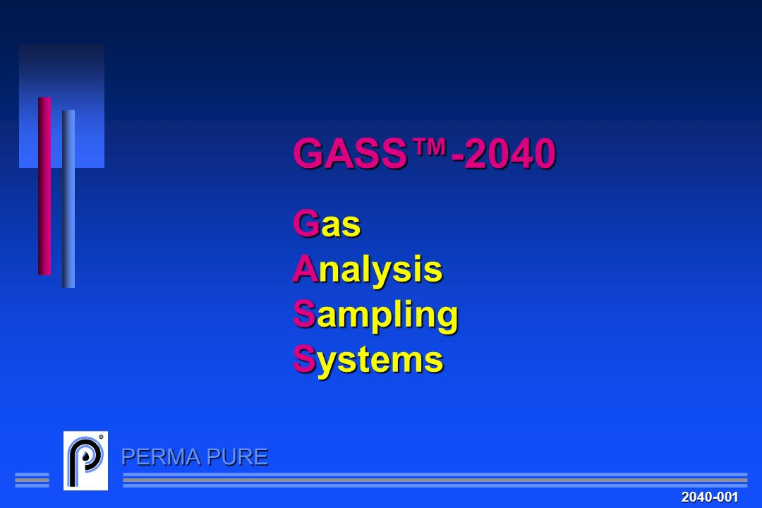 GASS™-2040 Gas Analysis Sampling Systems 2040-001