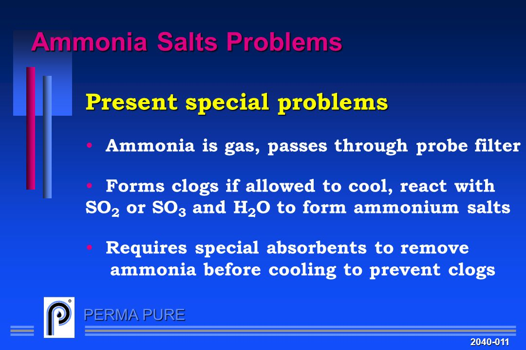 Ammonia Salts Problems
