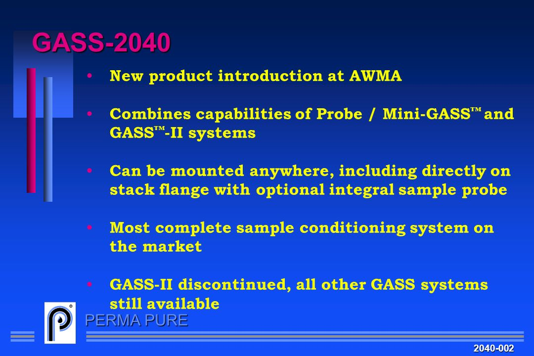 GASS-2040 New product introduction at AWMA