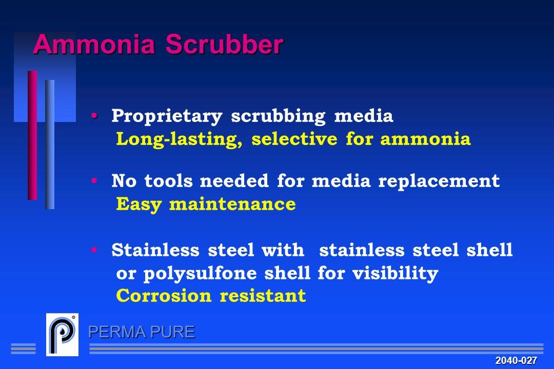 Ammonia Scrubber Proprietary scrubbing media