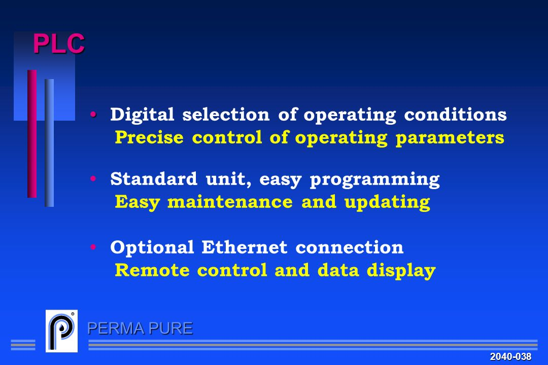 PLC Digital selection of operating conditions