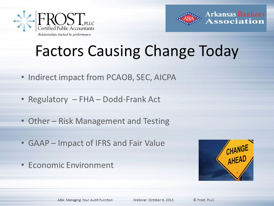 Factors Causing Change Today