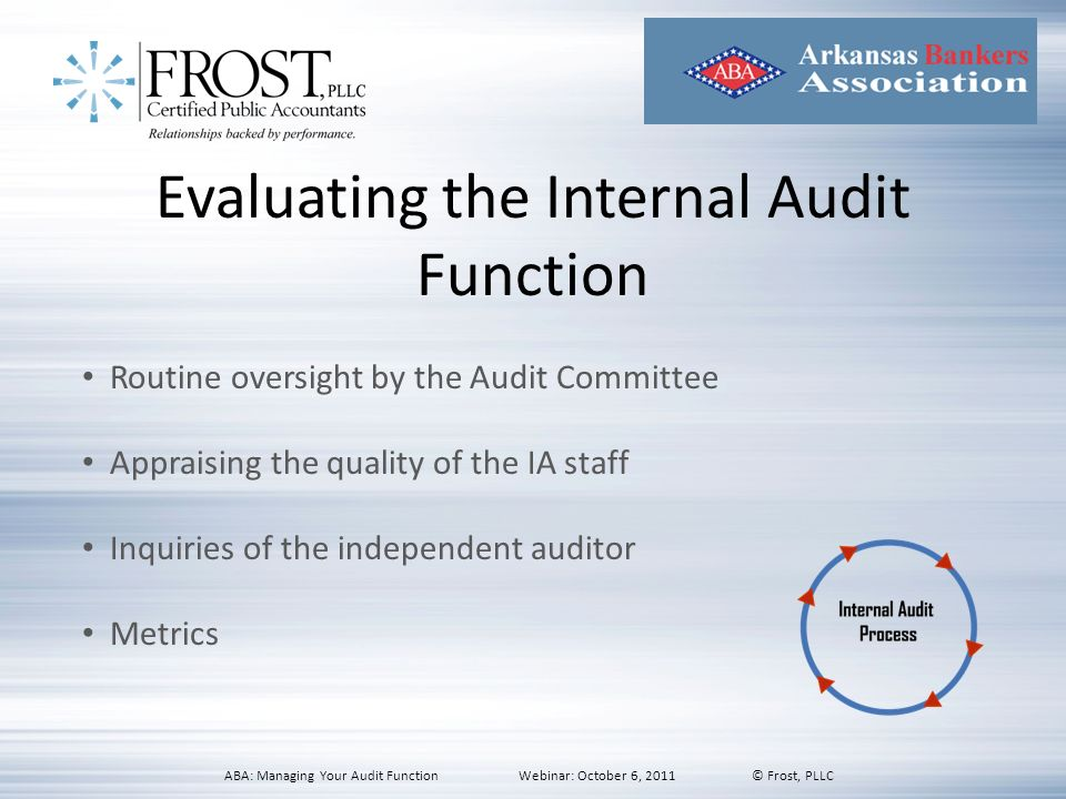 Evaluating the Internal Audit Function