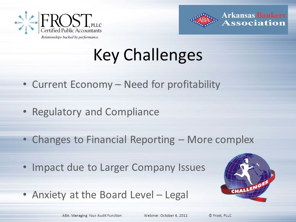 Key Challenges Current Economy – Need for profitability