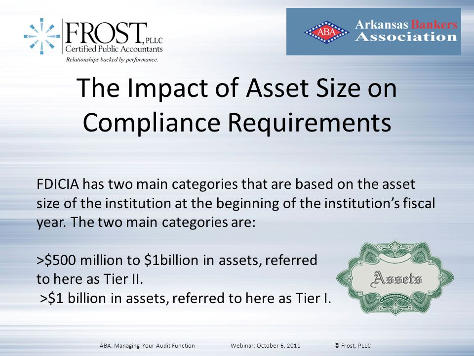 The Impact of Asset Size on Compliance Requirements