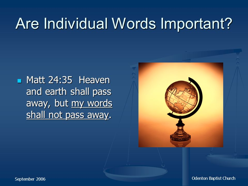 Are Individual Words Important