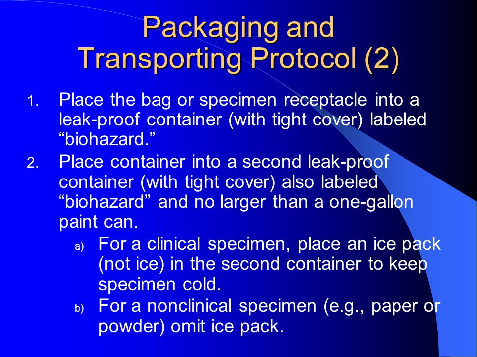 Packaging and Transporting Protocol (2)