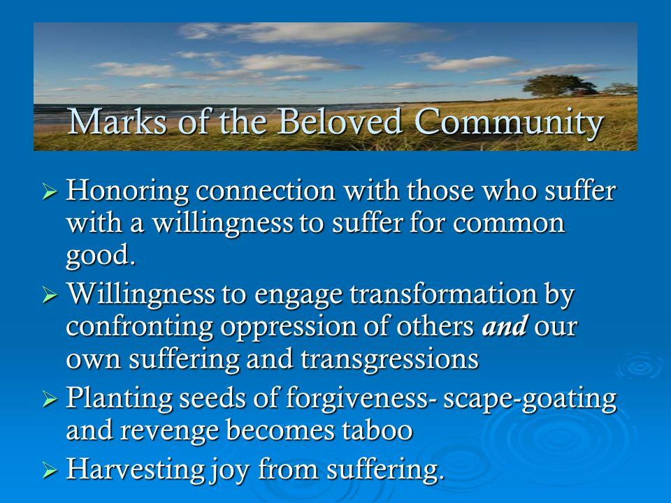 Marks of the Beloved Community