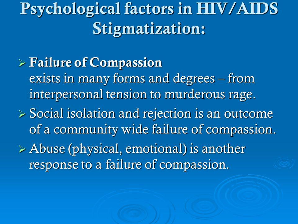 Psychological factors in HIV/AIDS Stigmatization: