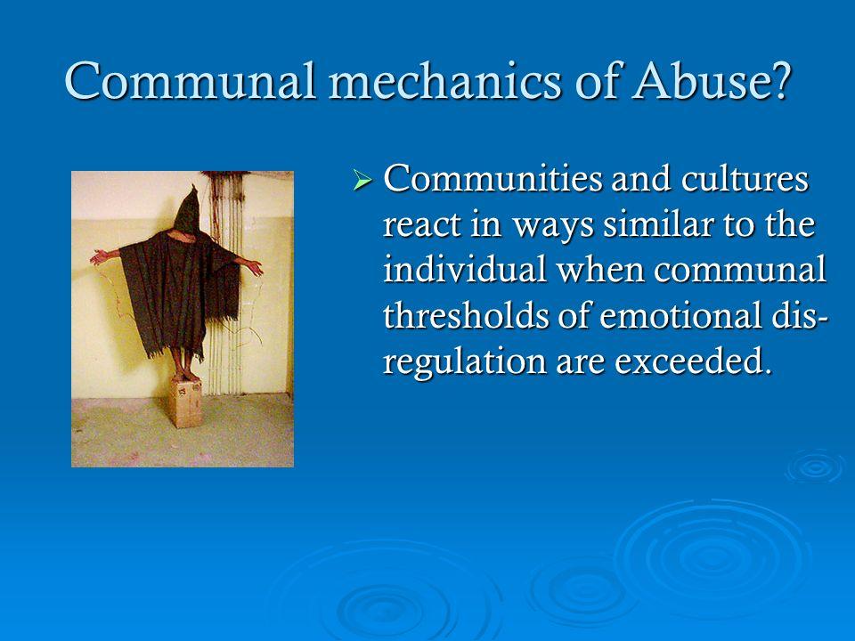 Communal mechanics of Abuse