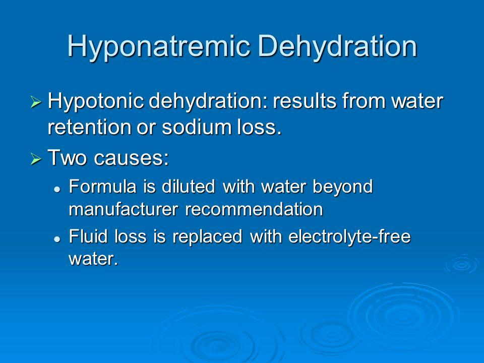 Hyponatremic Dehydration
