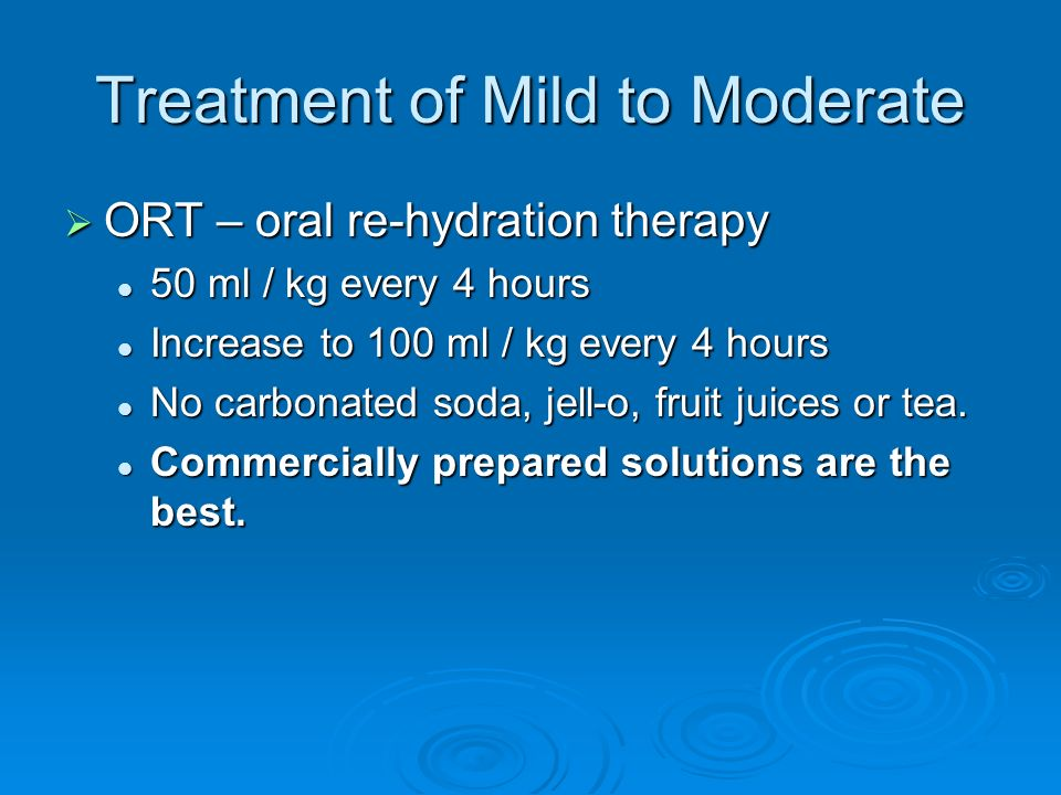 Treatment of Mild to Moderate