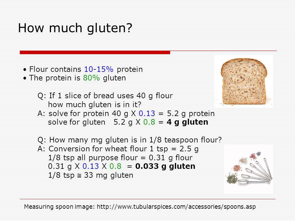 How much gluten Flour contains 10-15% protein