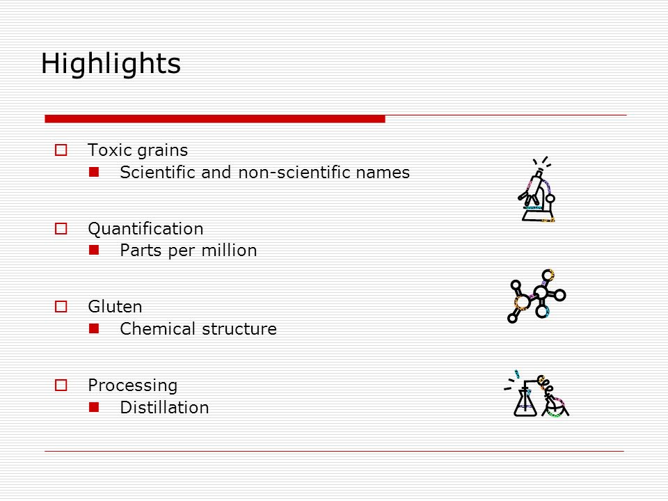 Highlights Toxic grains Scientific and non-scientific names