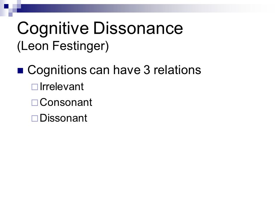 an introduction to the theoretical research of leon festingers theory of cognitive dissonance The cognitive dissonance experiment by leon festinger assumes that is based on the theory of cognitive dissonance proposed by introduction about.