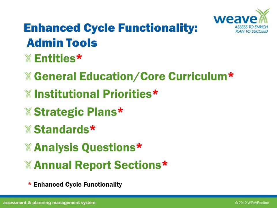 Enhanced Cycle Functionality: Admin Tools