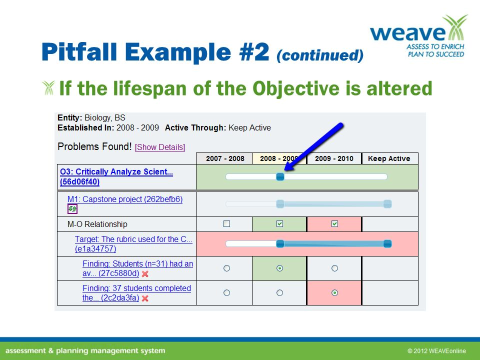 Pitfall Example #2 (continued)
