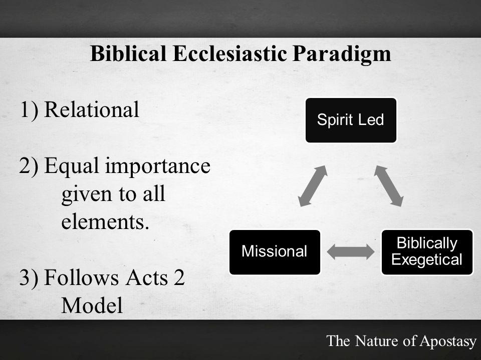 Biblical Ecclesiastic Paradigm