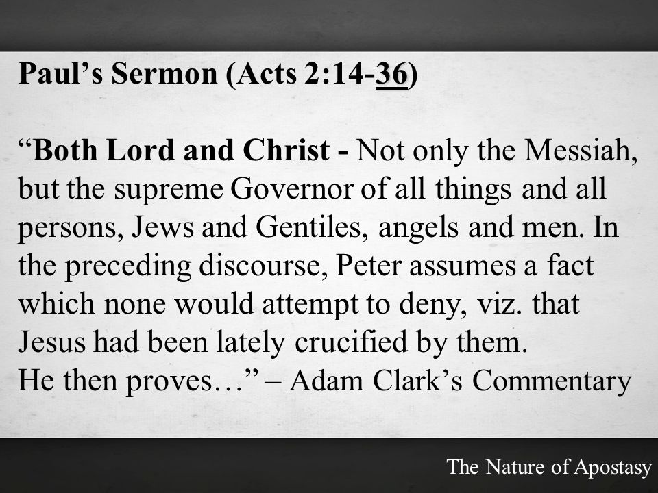 Paul's Sermon (Acts 2:14-36)