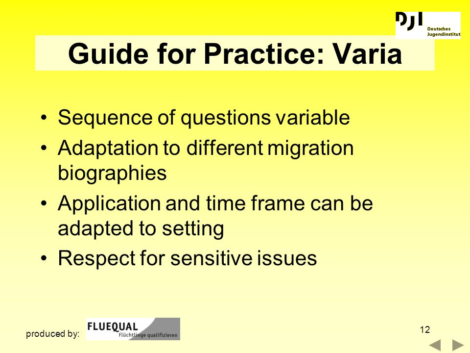 Guide for Practice: Varia