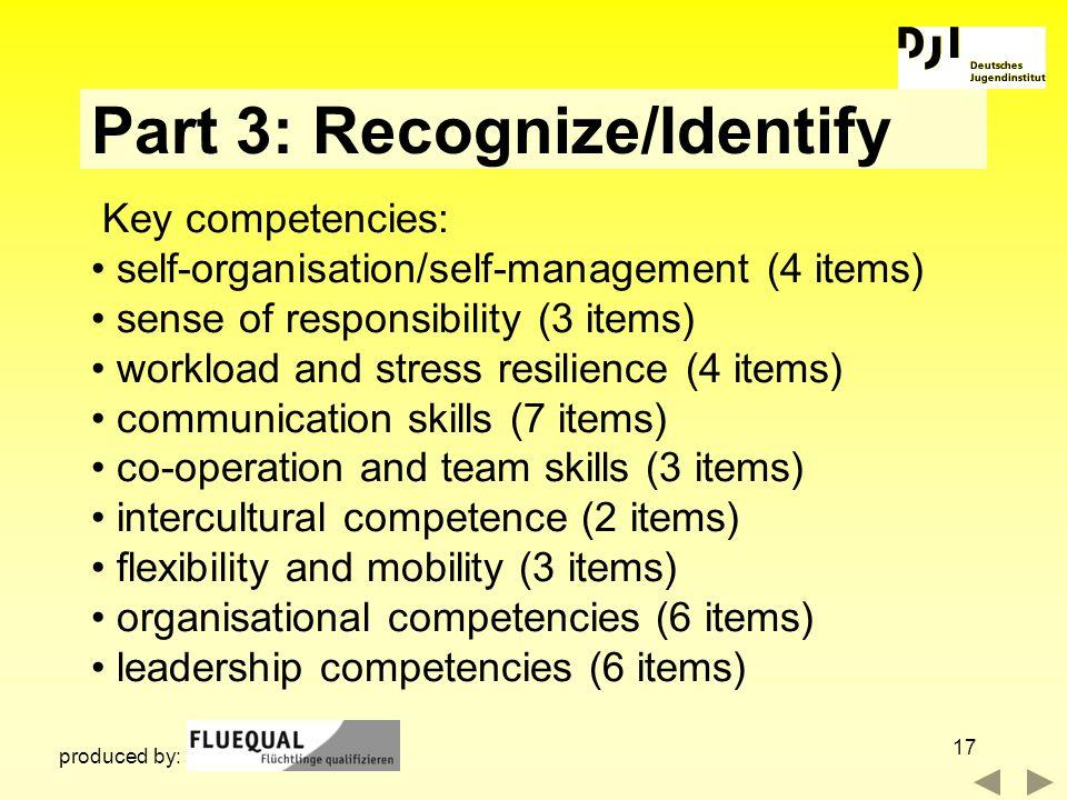 Part 3: Recognize/Identify