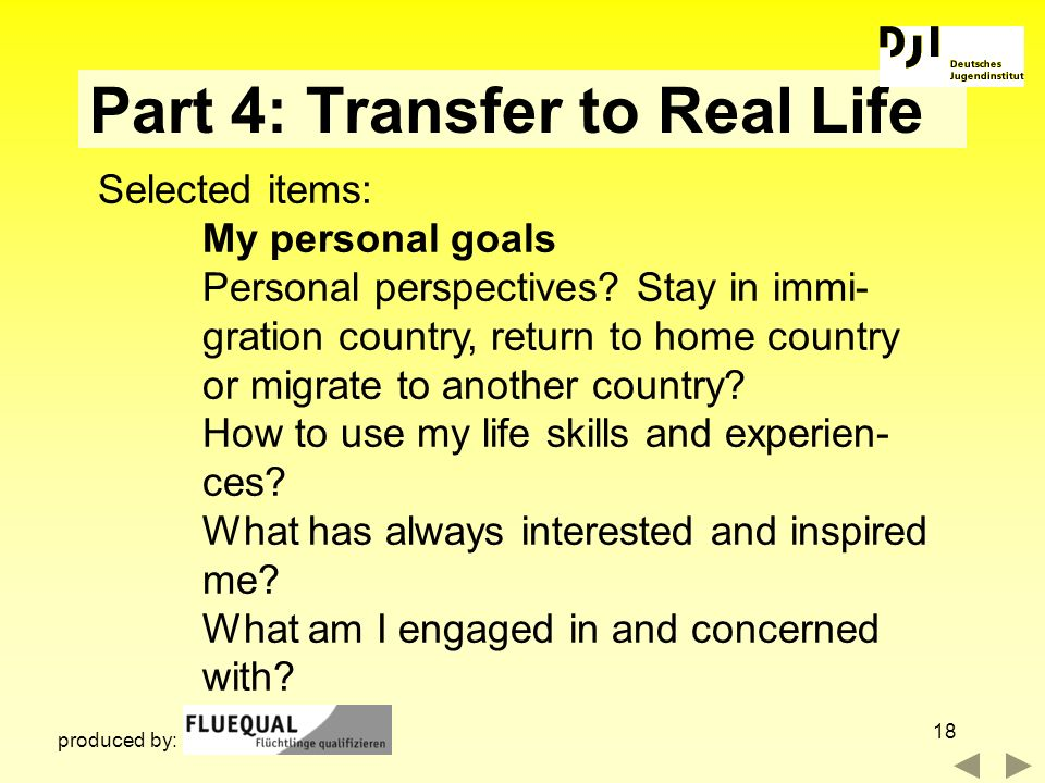 Part 4: Transfer to Real Life