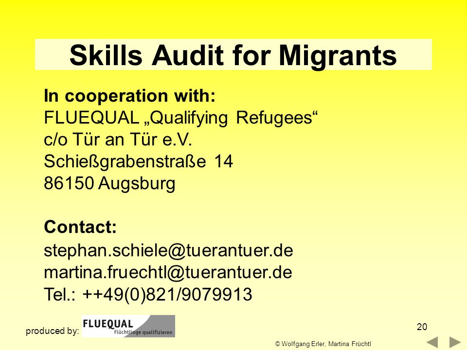 Skills Audit for Migrants