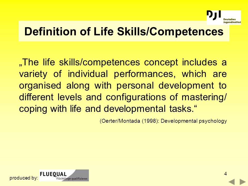 Definition of Life Skills/Competences