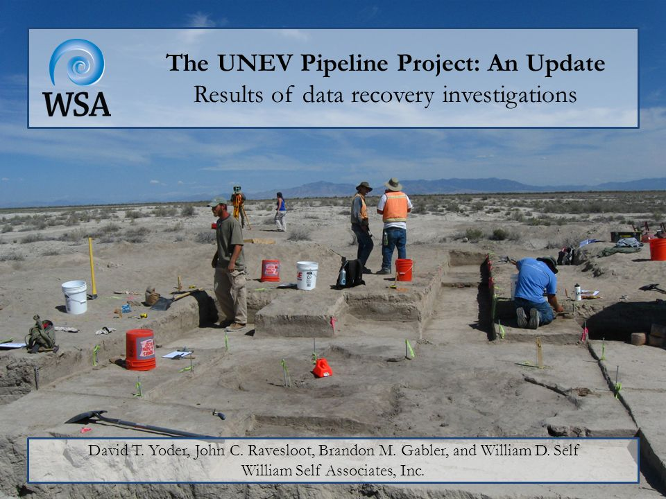 The UNEV Pipeline Project: An Update