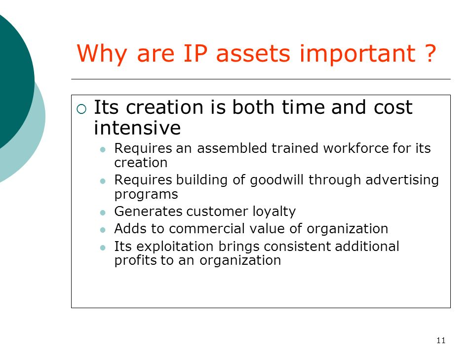 Why are IP assets important