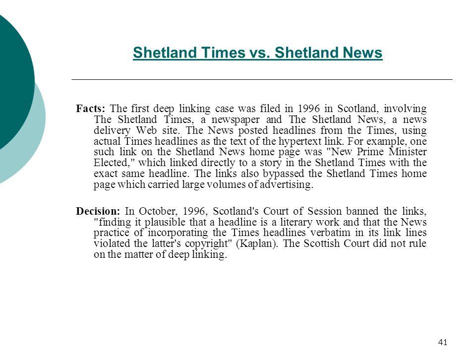 Shetland Times vs. Shetland News