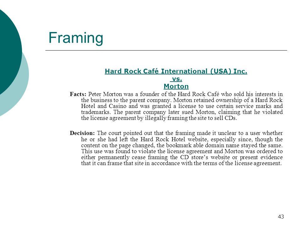 Hard Rock Café International (USA) Inc.