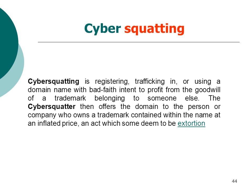 Cyber squatting