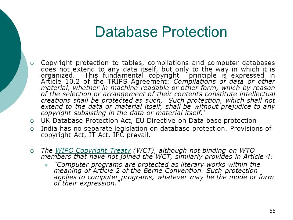 Database Protection