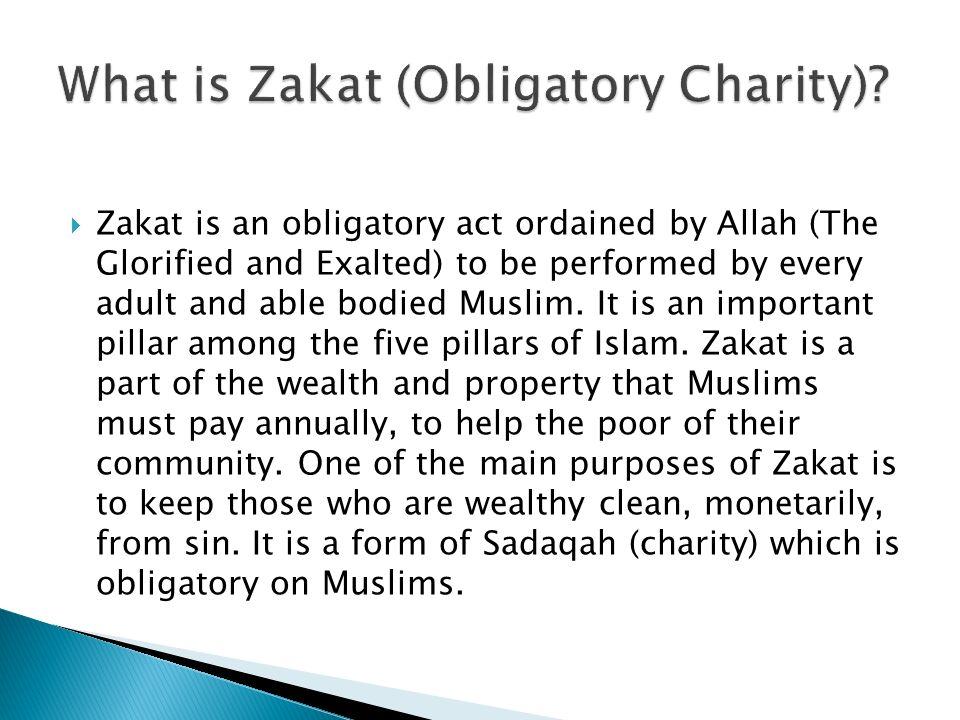 What is Zakat (Obligatory Charity)