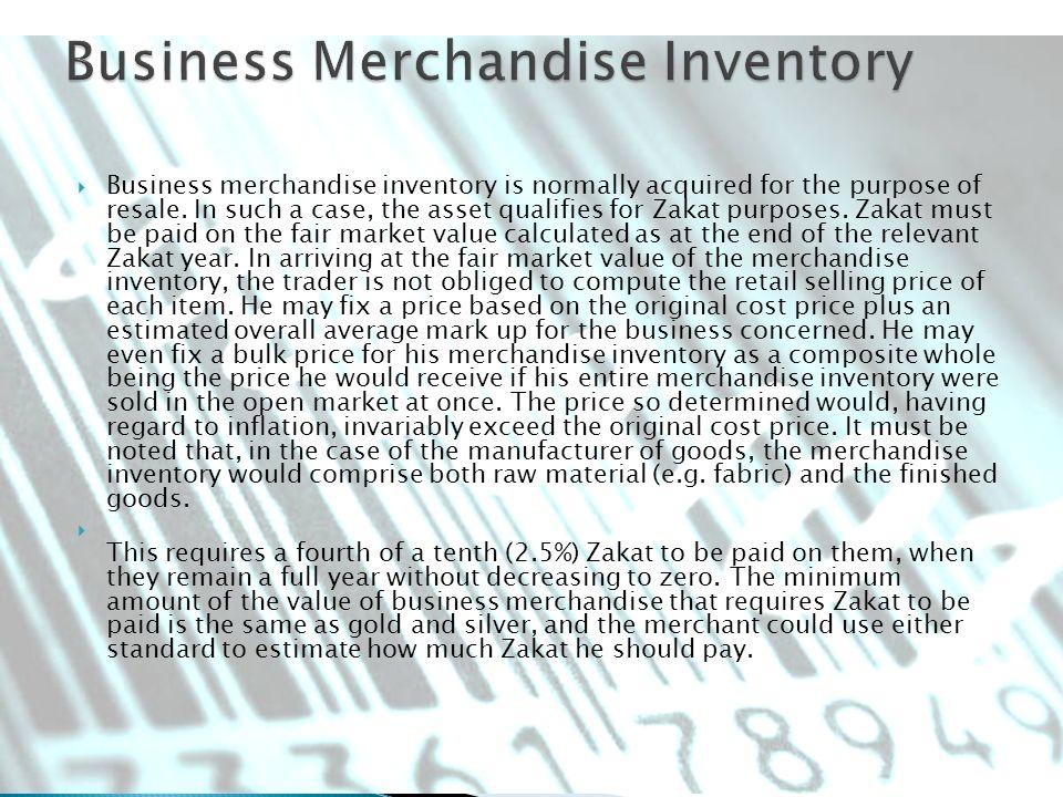 Business Merchandise Inventory