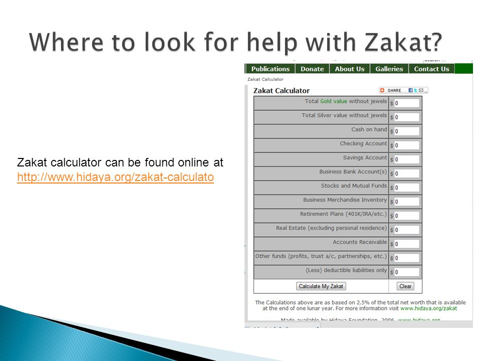 Where to look for help with Zakat