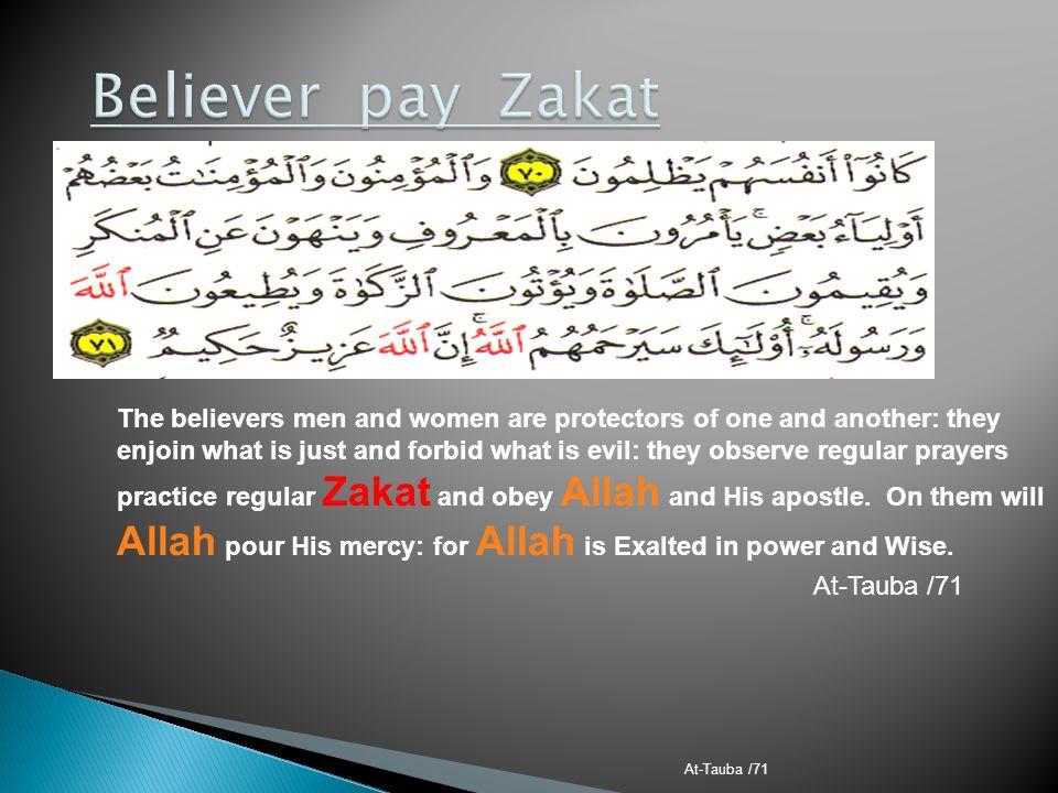Believer pay Zakat