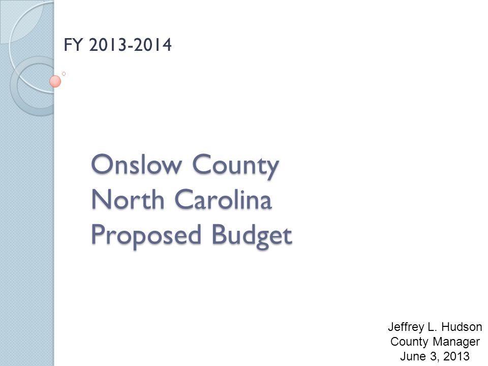 Onslow County North Carolina Proposed Budget