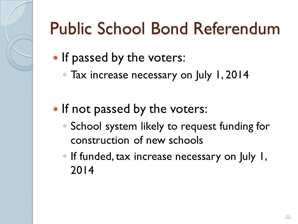Public School Bond Referendum